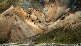 Landmannalaugar - paesaggio stupefacente in Islanda Fotografie Stock Libere da Diritti