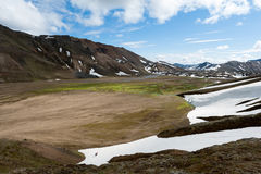Landmannalaugar is a place in the Fjallabak Nature Reserv Stock Images