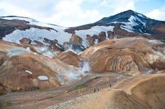 Landmannalaugar rainbow mountains, Iceland Stock Image