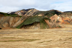 Landmannalaugar. Rainbow mountains near Landmannalaugar in Iceland Royalty Free Stock Photography