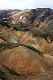 Landmannalaugar. Rainbow mountains near Landmannalaugar in Iceland Stock Photography
