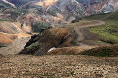 Landmannalaugar. Rainbow mountains near Landmannalaugar in Iceland Stock Photo