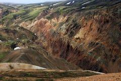 Landmannalaugar. Rainbow mountains near Landmannalaugar in Iceland Stock Photos