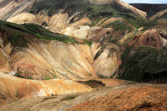 Landmannalaugar. Rainbow mountains near Landmannalaugar in Iceland Stock Photos
