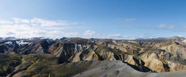 Landmannalaugar-Regenbogenberge in Island lizenzfreie stockfotos