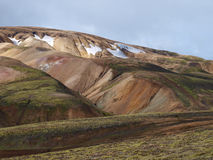 Landmannalaugar Rhyolite hill, Iceland. First day of the Laugavegur hike in Iceland Stock Photo