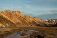 Landmannalaugar-Rhyolithberge Stockfotografie