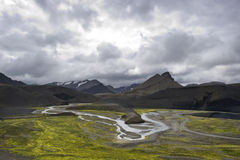 Landmannalaugar river bedding Stock Image