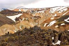 Landmannalaugar tęczy góry w Iceland Fotografia Stock