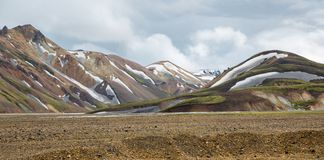 Landmannalaugar unbelievable landscape in Iceland Royalty Free Stock Photo