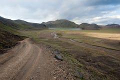 landmannalaugar väg till Royaltyfri Bild