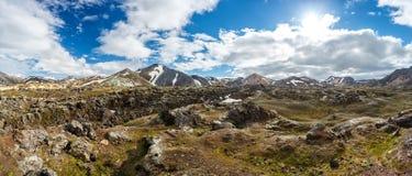 Landmannalaugar valley in Iceland Stock Image