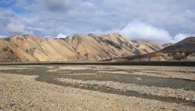 Landmannalaugar volcanic landscape, Iceland Stock Photos