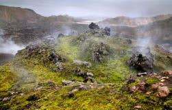 Landmannalaugar wild landscape Royalty Free Stock Image