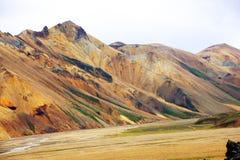 Landmannalaugur, гористые местности Исландия, Европа Стоковые Изображения