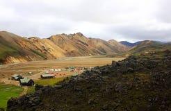 Landmannalaugur, гористые местности Исландия, Европа Стоковое Фото