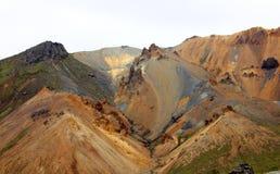 Landmannalaugur, гористые местности Исландия, Европа Стоковая Фотография