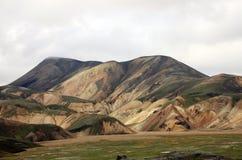 Landmannalaugur, гористые местности Исландия, Европа Стоковое Изображение RF