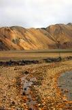 Landmannalaugur, гористые местности Исландия, Европа Стоковое Изображение