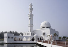 Landmark. Tengku Tengah Zaharah Mosque in Terengganu, Malaysia. Popularly known as the Floating Mosque Stock Photography