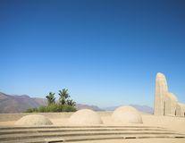 Landmark of the Afrikaans Language Monument. Famous landmark of the Afrikaans Language Monument in Paarl, Western Cape, South Africa Royalty Free Stock Image