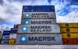 Landmark, Architecture, Building, Shipping Container royalty free stock photo