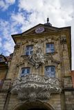 Landmark of Bamberg Upper bridge and Old Town Hall townhall, Ger Stock Photography