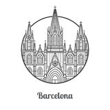Landmark of Barcelona Icon Stock Photography