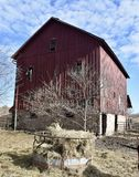 Landmark Barn. This is a Fall picture of the landmark barn known as the Henson-Kasparov-Duffy Barn located in Solon,Iowa in Johnson County.  This barn built in Stock Photos