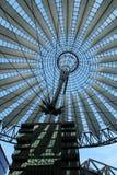 Sony center in Berlin city. Landmark of Berlin. The Sony center in Potsdam Square in the West Berlin stock photo