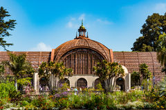Landmark Botanical Garden in Balboa Park. SAN DIEGO, CALIFORNIA - APRIL 28, 2017: The landmark Botanical Building in Balboa park, built for the 1915-1916 royalty free stock image