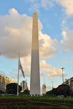 Landmark in Buenos Aires. The Obelisk (Spanish: Obelisco de Buenos Aires) is one of the city's most famous landmarks and a venue for various cultural activities royalty free stock photography