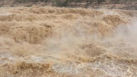 Yellow River Hukou Waterfall video stock video footage