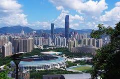 Landmark building of chinese city. Shenzhen Royalty Free Stock Photography