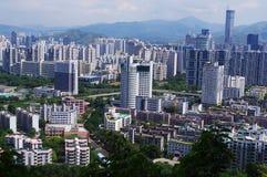 Landmark building of chinese city Stock Photo