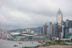 landmark buildings along the Lung Wo Road, hk Royalty Free Stock Images
