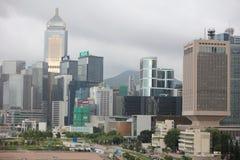 landmark buildings along the Lung Wo Road, hk Stock Photos