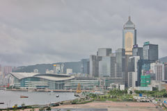 landmark buildings along the Lung Wo Road, hk Royalty Free Stock Photo