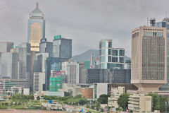 landmark buildings along the Lung Wo Road, hk Royalty Free Stock Image