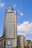 Landmark buildings in Shanghai Bund, China Stock Photo