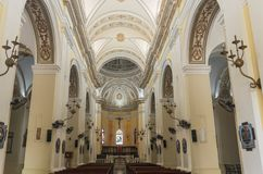 Landmark Cathedral Interior in San Juan royalty free stock images