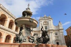 Landmark Cathedral of Loreto Royalty Free Stock Photo