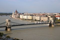 Chain Bridge of Budapest Royalty Free Stock Photography