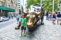 Landmark Charging Bull in Lower Stock Photography