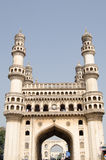 Charminar tower, Hyderabad. The landmark Charminar tower, most famous landmark in Hyderabad, Andhra Pradesh.  The Islamic structure has dominated the south of Stock Photography