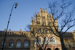 Landmark in Chernivtsi, Ukraine, orthodox church at University the former Metropolitans residence. ! stock photos