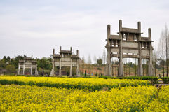 Landmark of Chinese ancient buildings Royalty Free Stock Image