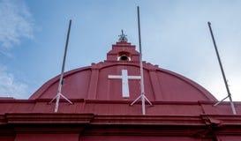 Historic Anglican church in Malacca. The landmark Christ Church in downtown Melaka Malacca Malaysia Stock Image