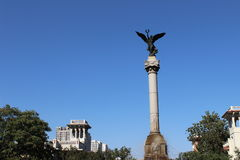 Landmark in the city of tianjin China. Which is a high statue Royalty Free Stock Photo