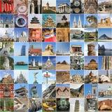 Landmark collage Stock Photos